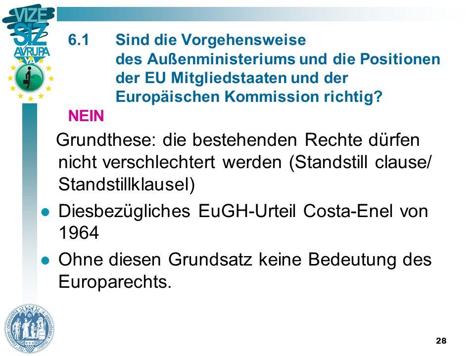 28 6.1Sind die Vorgehensweise des Außenministeriums und die Positionen der EU Mitgliedstaaten und der Europäischen Kommission richtig.