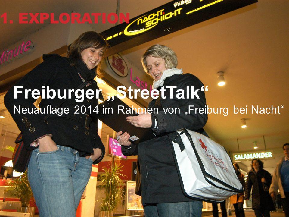 """12 Freiburger """"StreetTalk"""" Neuauflage 2014 im Rahmen von """"Freiburg bei Nacht"""" 1. EXPLORATION"""