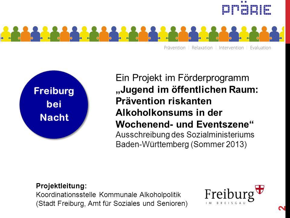 """2 Ein Projekt im Förderprogramm """"Jugend im öffentlichen Raum: Prävention riskanten Alkoholkonsums in der Wochenend- und Eventszene"""" Ausschreibung des"""