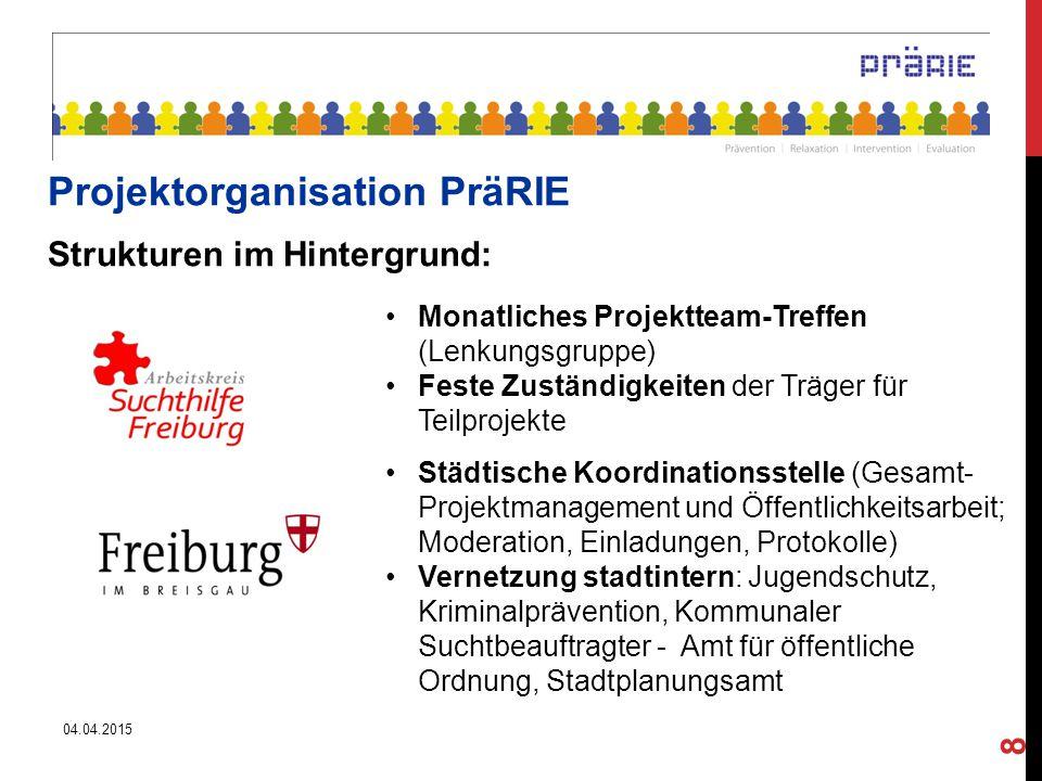 """REALISIERTE PROJEKT-BAUSTEINE: Exploration 2 STUDIEN: """"StreetTalk 2014 """"Freiburger Nacht-Orte Intervention Ausweitung Peer- Beratung und Bar-Einsätze (ZMF, Stadtgarten) Gastro-Dialog (Schulungsangebote; Jugendschutz- Materialien) Nacht- Wanderer (Unterstützung von Stadtteil-Initiativen) Partizipation """"INSIDER - Projekt (Peer- Education) Platzbelebungs- Konzept mit Jugendarbeit im """"BAUSTEIN 3 konnte nicht umgesetzt werden."""