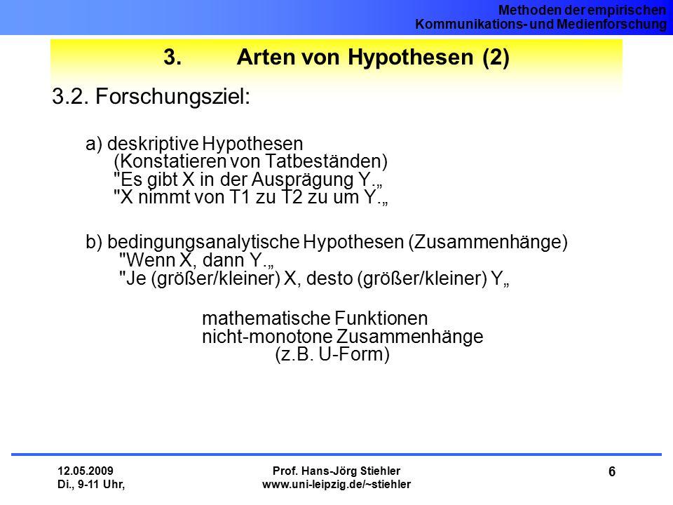 Methoden der empirischen Kommunikations- und Medienforschung 12.05.2009 Di., 9-11 Uhr, Prof. Hans-Jörg Stiehler www.uni-leipzig.de/~stiehler 6 3. Arte