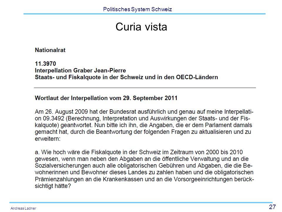 27 Politisches System Schweiz Andreas Ladner Curia vista