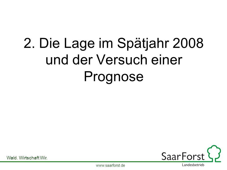 www.saarforst.de Wald. Wirtschaft Wir. 2. Die Lage im Spätjahr 2008 und der Versuch einer Prognose