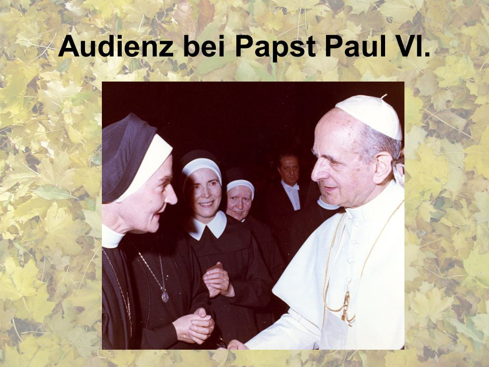 Audienz bei Papst Paul VI.
