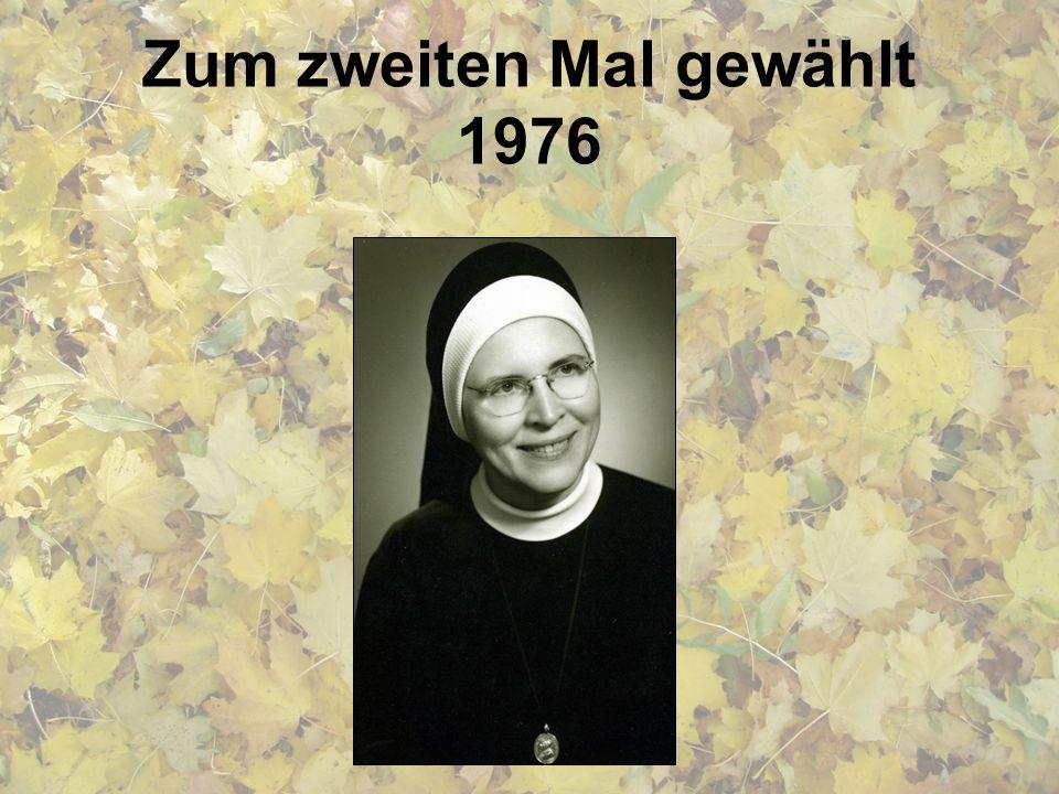 Zum zweiten Mal gewählt 1976