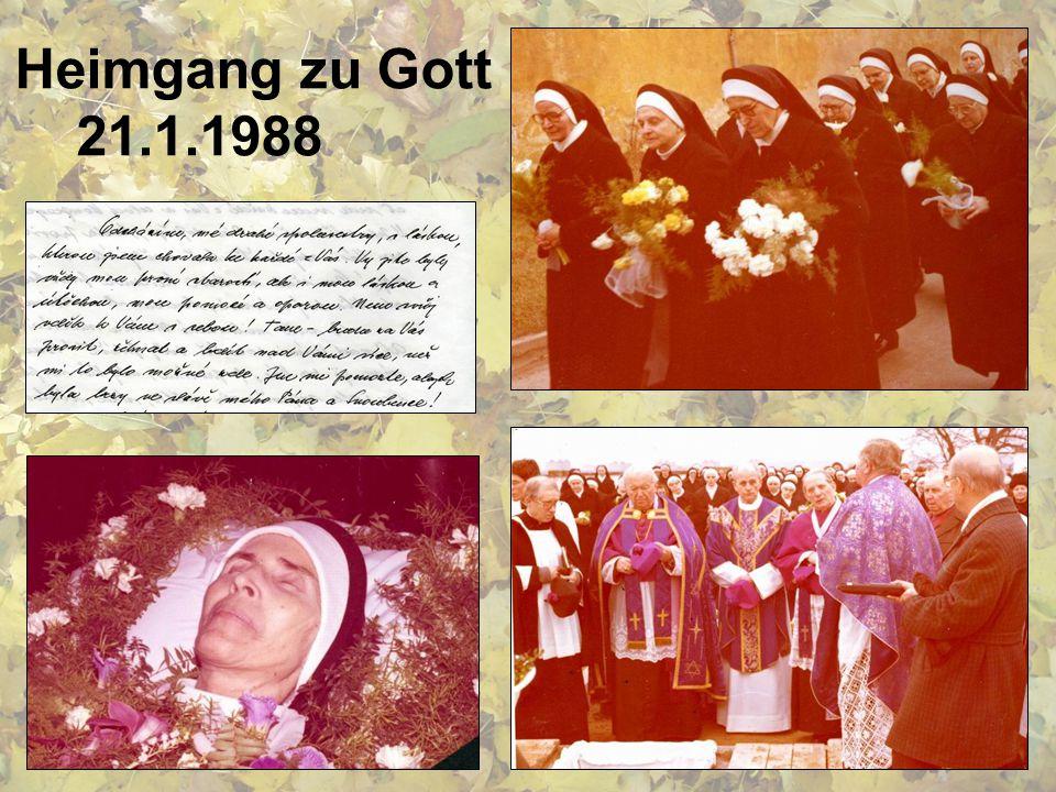 Heimgang zu Gott 21.1.1988