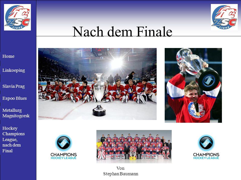 Von Stephan Baumann Nach dem Finale Ari Sulander (Goalie von den Lions) wurde nach dem Finale zum Wertvollsten Spieler der Hockey Champions League gewählt.