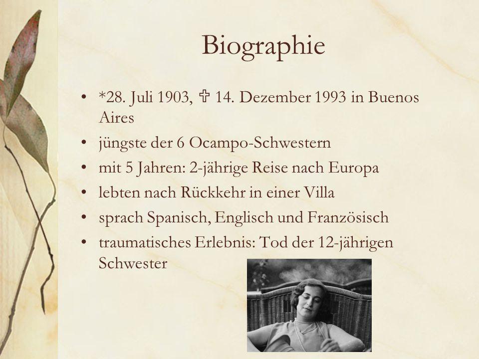Biographie *28.Juli 1903,  14.