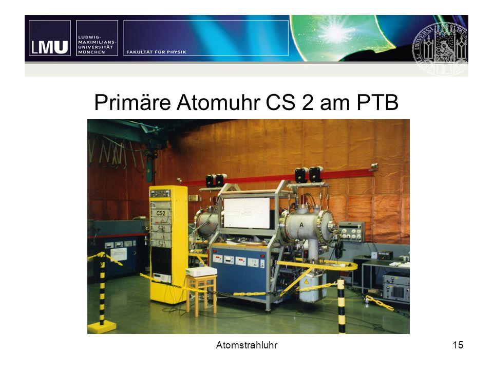 Atomstrahluhr15 Primäre Atomuhr CS 2 am PTB