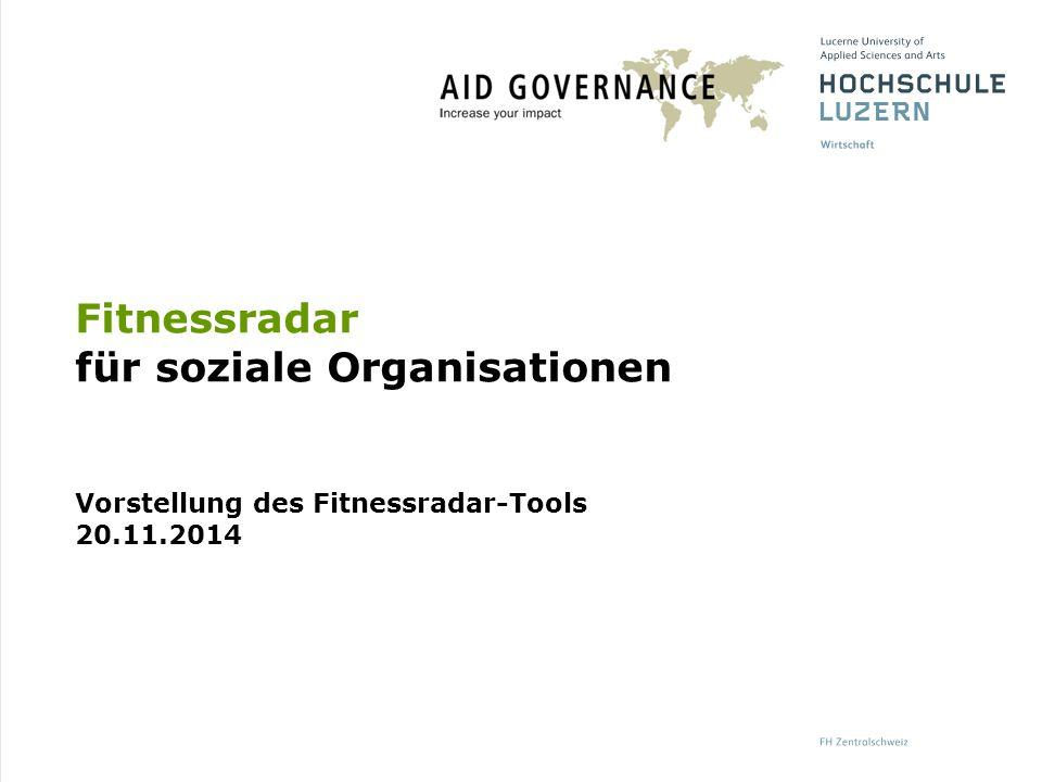 Fitnessradar für soziale Organisationen Vorstellung des Fitnessradar-Tools 20.11.2014