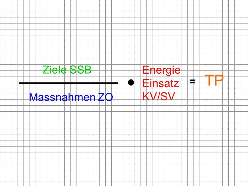 = Ziele SSB Massnahmen ZO Energie Einsatz KV/SV TP