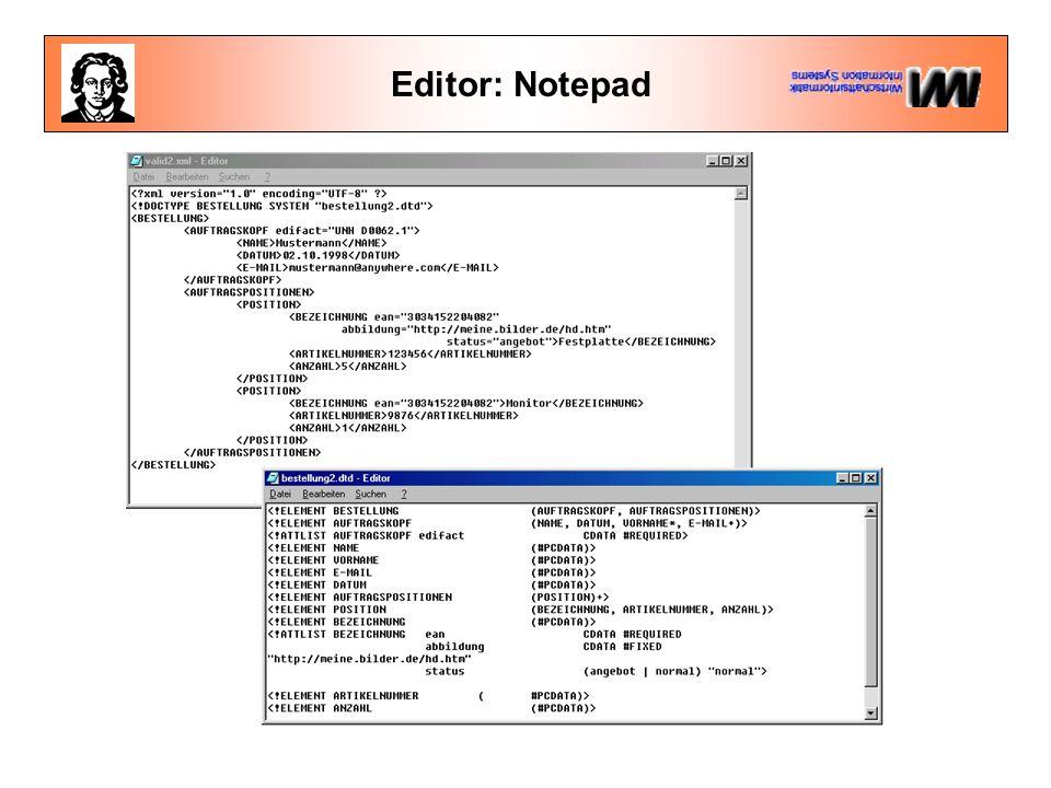 Editor: Notepad