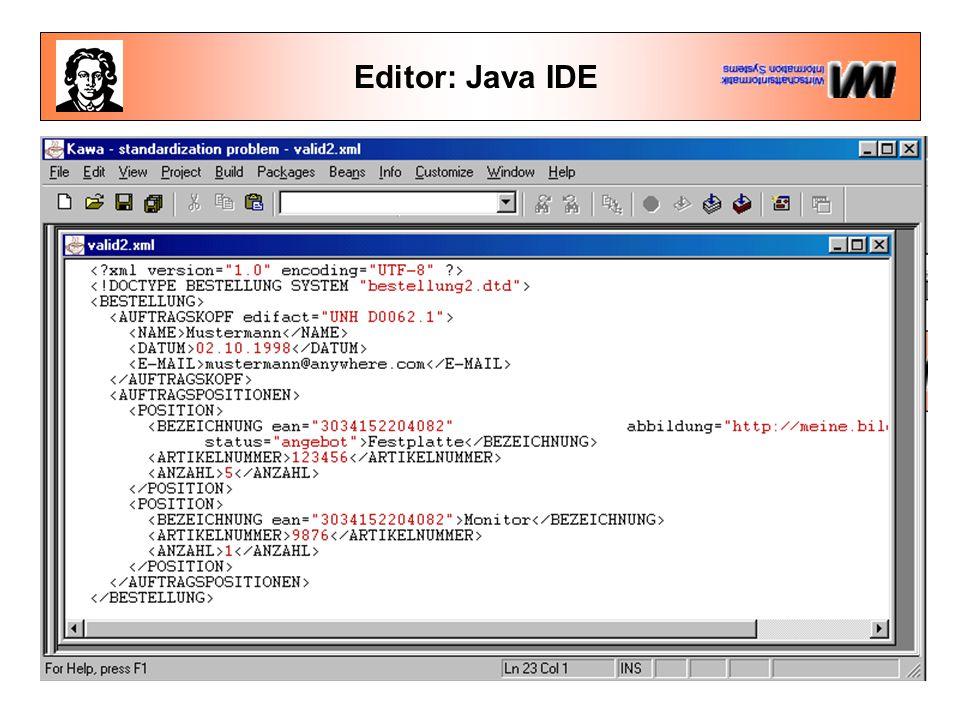 Editor: Java IDE