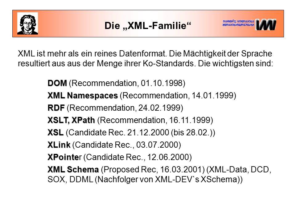 Entities Die logische Struktur wird von der Anordnung der Tags im Dokument bestimmt.