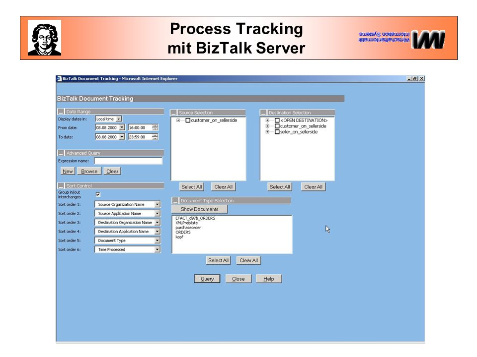 Process Tracking mit BizTalk Server