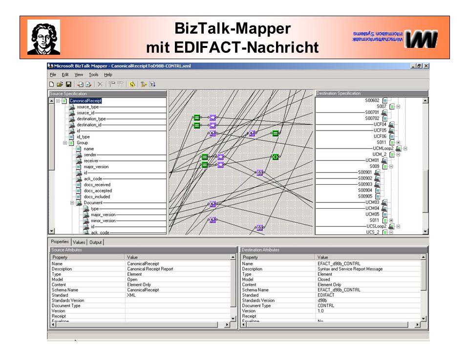 BizTalk-Mapper mit EDIFACT-Nachricht