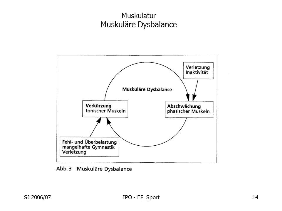 SJ 2006/07IPO - EF_Sport14 Muskulatur Muskuläre Dysbalance