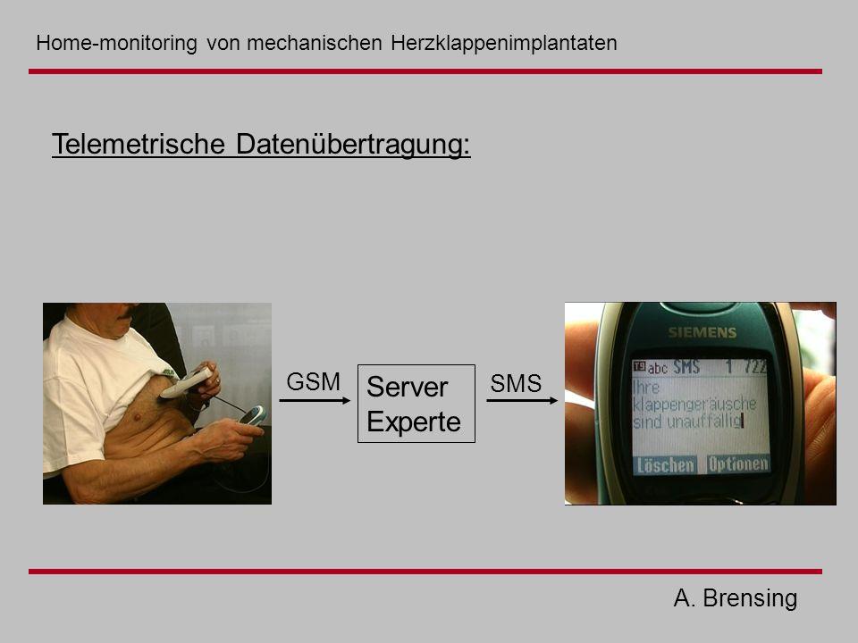 A. Brensing Server Experte GSM SMS Telemetrische Datenübertragung: Home-monitoring von mechanischen Herzklappenimplantaten