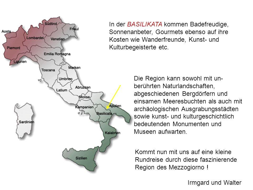 Fotoalbum von Walter Käppeli Basilikata MATERA – Città dei sassi MELFI – Castello Federico II VENOSA - Città di Orazio Laghi di Monticchio Wein und Oliven am Monte Vulture