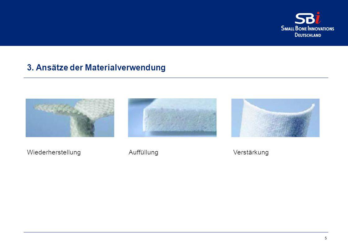 5 3. Ansätze der Materialverwendung WiederherstellungAuffüllungVerstärkung