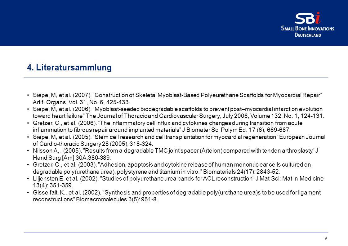 9 4.Literatursammlung Siepe, M, et al. (2007).