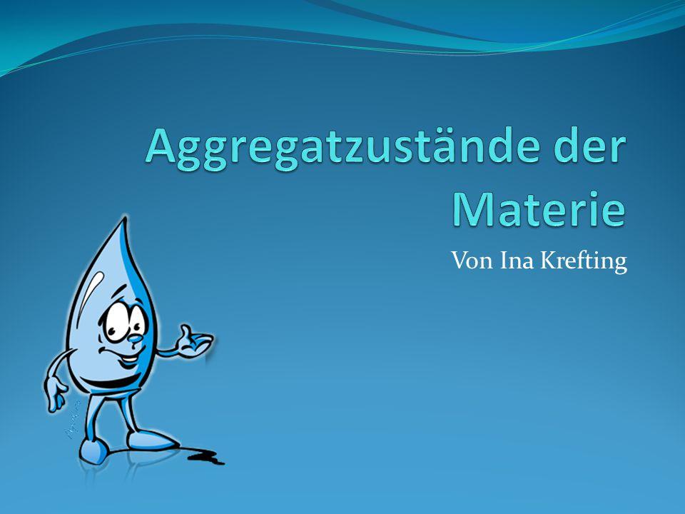 Gliederung Verschiedene Gestaltformen von Wasser im Alltag Die 3 Zustandsformen von Wasser Die Eigenschaften der drei Aggregatzustände Veränderung der Aggregatzustände Plasma- der vierte Aggregatzustand Fundorte von Plasma Schlusswort
