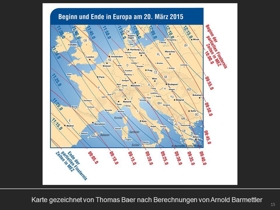 Karte gezeichnet von Thomas Baer nach Berechnungen von Arnold Barmettler 15
