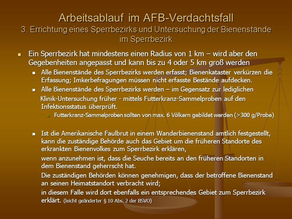 Arbeitsablauf im AFB-Verdachtsfall 3.