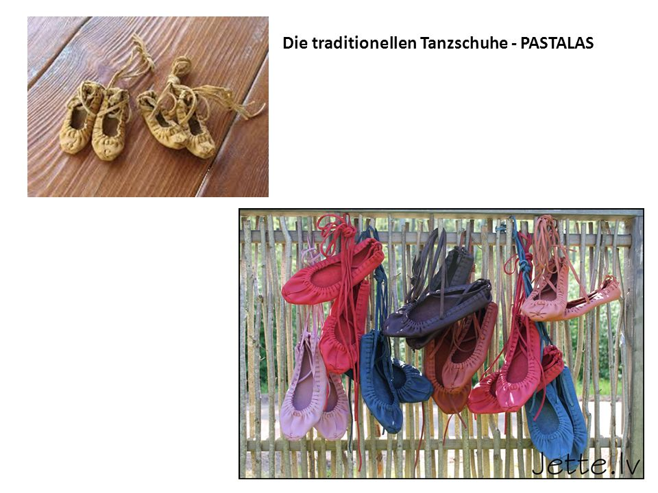 Die traditionellen Tanzschuhe - PASTALAS