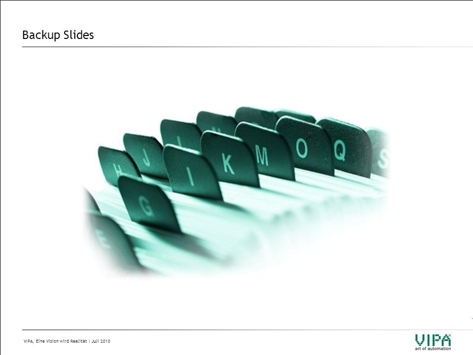 VIPA, Eine Vision wird Realität | Juli 2010 Backup Slides