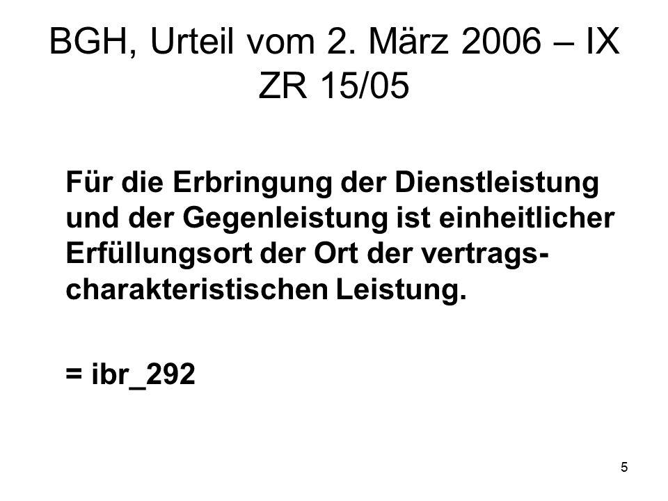 6 OLG Frankfurt, Urteil vom 8.Dezember 2004 – 19 U 100/04 BGH, Beschluss vom 1.