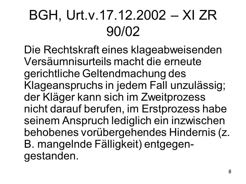 9 BGH, Urt.v. 9.10.2003 – VII ZR 335/02 1.
