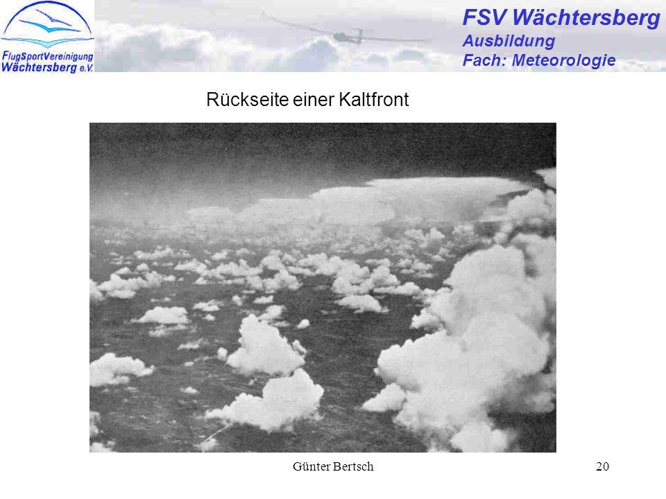 Günter Bertsch20 FSV Wächtersberg Ausbildung Fach: Meteorologie Rückseite einer Kaltfront