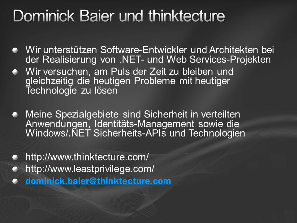 2 Wir unterstützen Software-Entwickler und Architekten bei der Realisierung von.NET- und Web Services-Projekten Wir versuchen, am Puls der Zeit zu ble