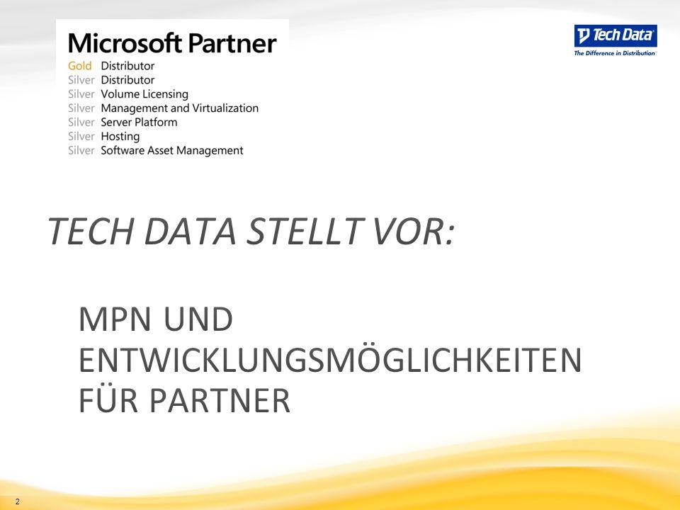 3 Partnerstufen im Microsoft Partner Network Gold-Kompetenzpartner Silver-Kompetenzpartner Abonnent Network Member
