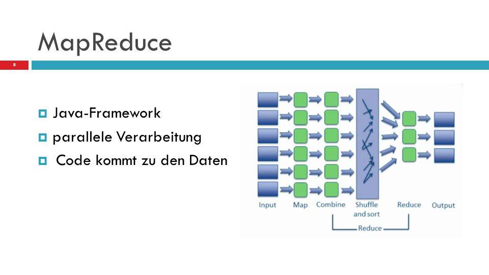 MapReduce  Java-Framework  parallele Verarbeitung  Code kommt zu den Daten 8