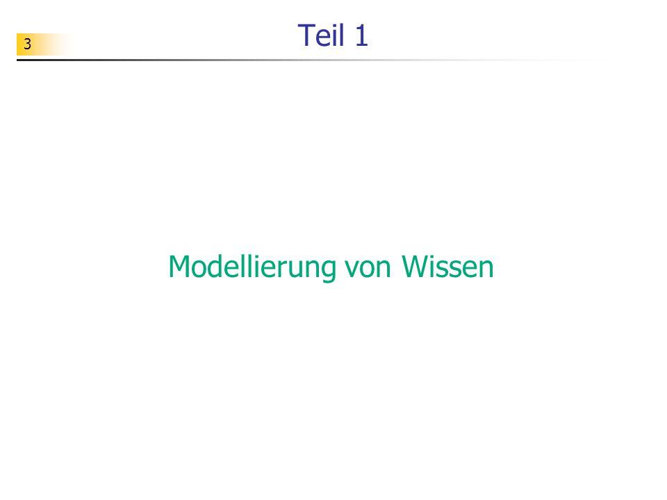3 Teil 1 Modellierung von Wissen