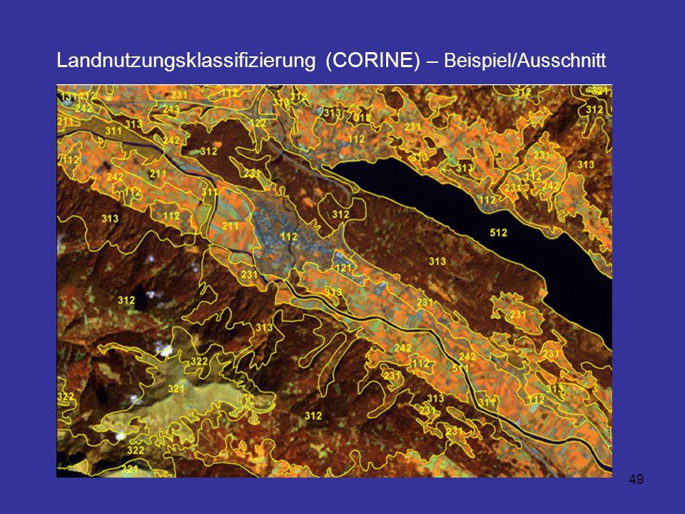 49 Landnutzungsklassifizierung (CORINE) – Beispiel/Ausschnitt
