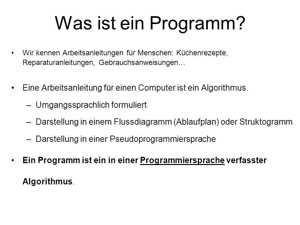Wodurch wird eine Programmiersprache definiert.