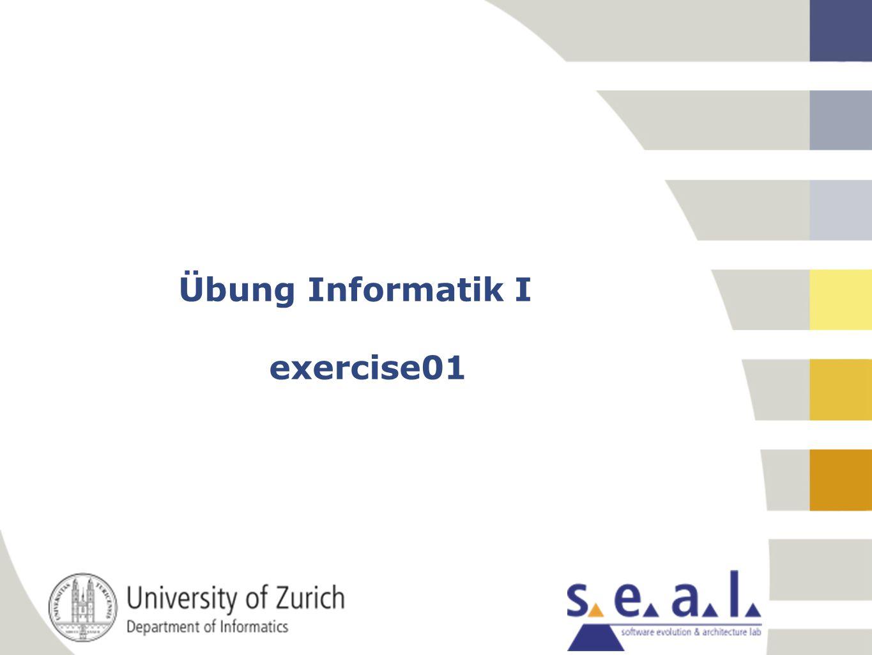 2 Inhaltsübersicht Nachbesprechung Übung 1 Individuelle Fragen/Bemerkungen