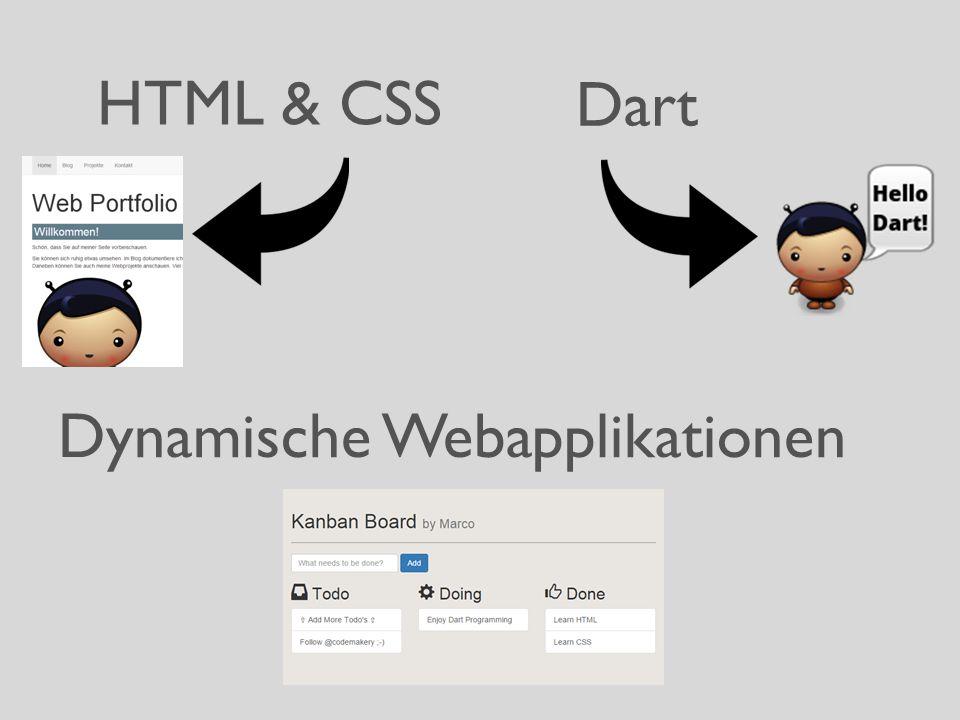 HTML & CSS Dart Dynamische Webapplikationen