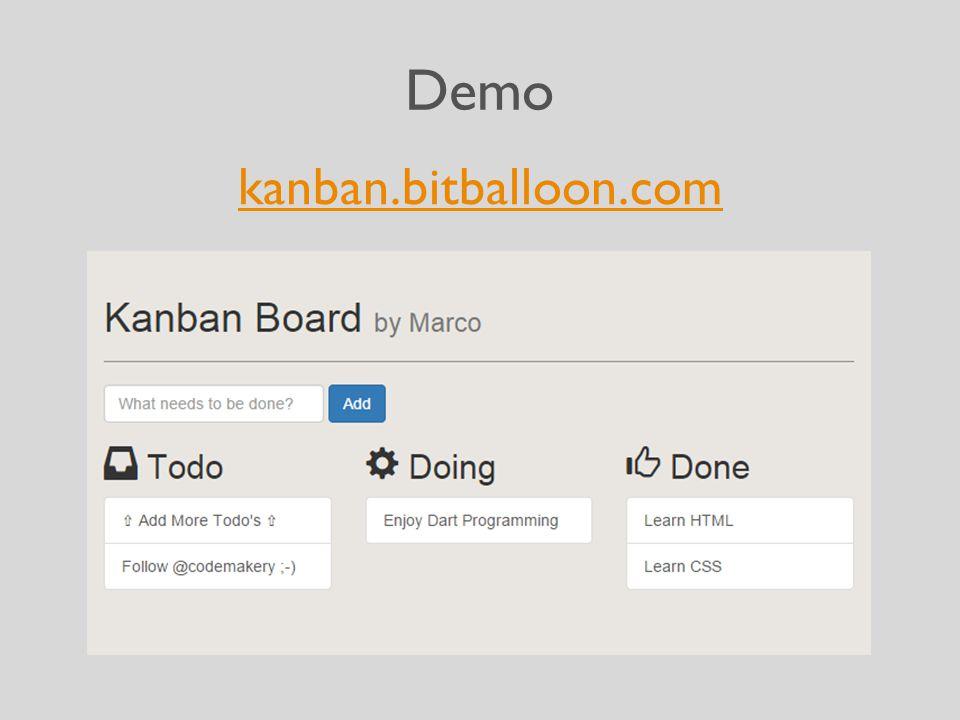 Demo kanban.bitballoon.com