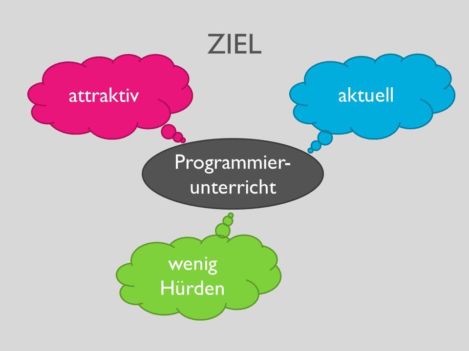 ZIEL Programmier- unterricht aktuell attraktiv wenig Hürden