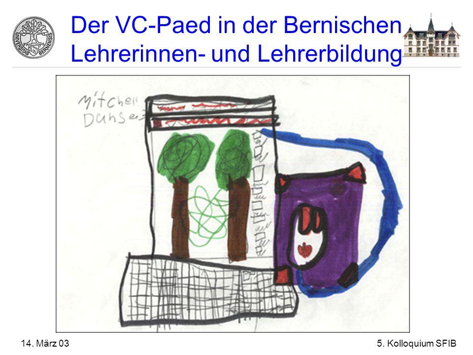 14. März 035. Kolloquium SFIB Der VC-Paed in der Bernischen Lehrerinnen- und Lehrerbildung