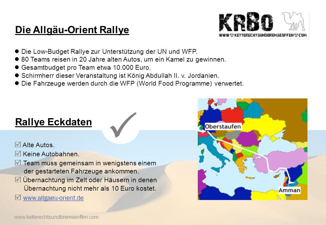 Die Low-Budget Rallye zur Unterstützung der UN und WFP.
