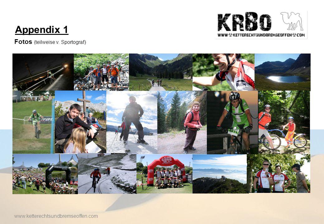 Appendix 2 Weitere Informationen zur Rallye Offizielle OK Seite: http://www.allgaeu-orient.de Berichterstattung vom BR aus 2007: http://www.allgaeu-orient.de/media/video/2007/quer.avi Video vom Vorjahr: http://www.youtube.com/watch?v=NJVQwoaDb9M Tagebuch der Sieger 2008: http://www.scuderiasilencio.de/downloads/tagebuch1.pdf Offizielle WFP Seite: http://www.wfp.org www.ketterechtsundbremseoffen.com