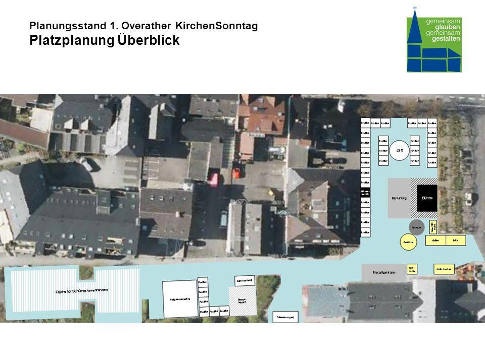 Planungsstand 1. Overather KirchenSonntag Platzplanung Überblick