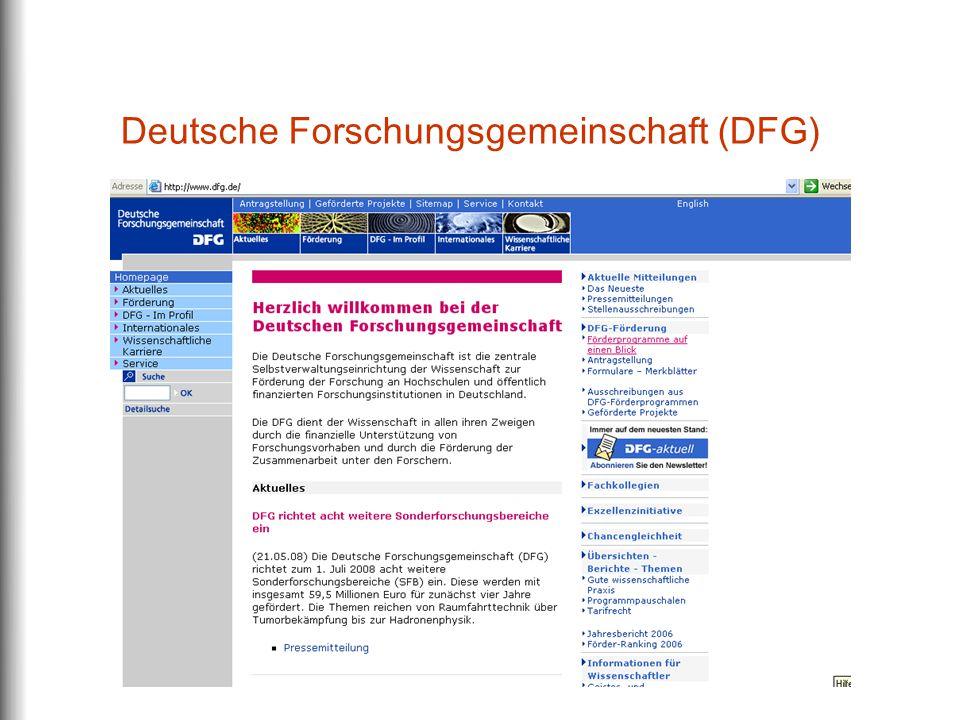 Deutsche Forschungsgemeinschaft (DFG)