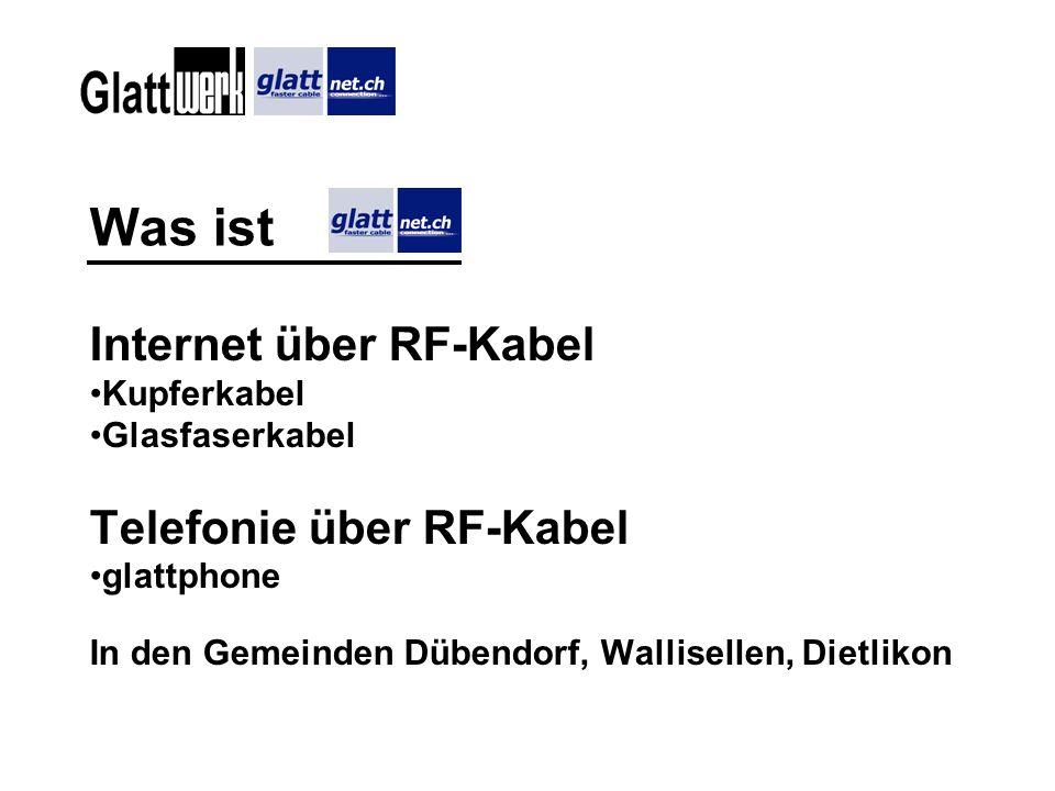 Umstellen auf glattphone Abklären, ob der Hausanschluss der Gemeinde überhaupt für Glattphone geeignet ist: Telefon an Herrn Müller, Glattnet (044 801 68 75).