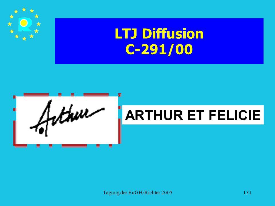 Tagung der EuGH-Richter 2005131 LTJ Diffusion C-291/00 ARTHUR ET FELICIE